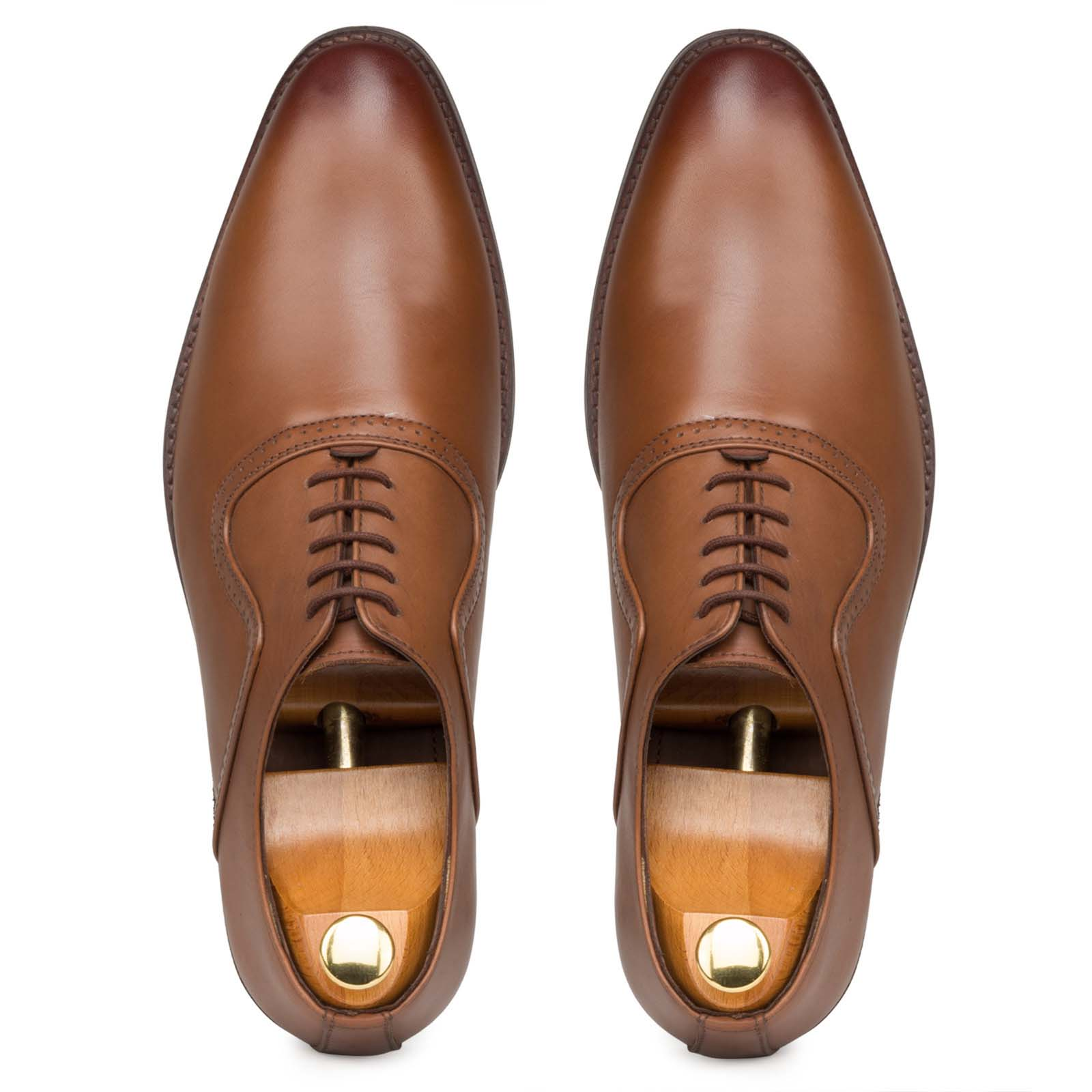 Tan Vintage Punch Oxfords
