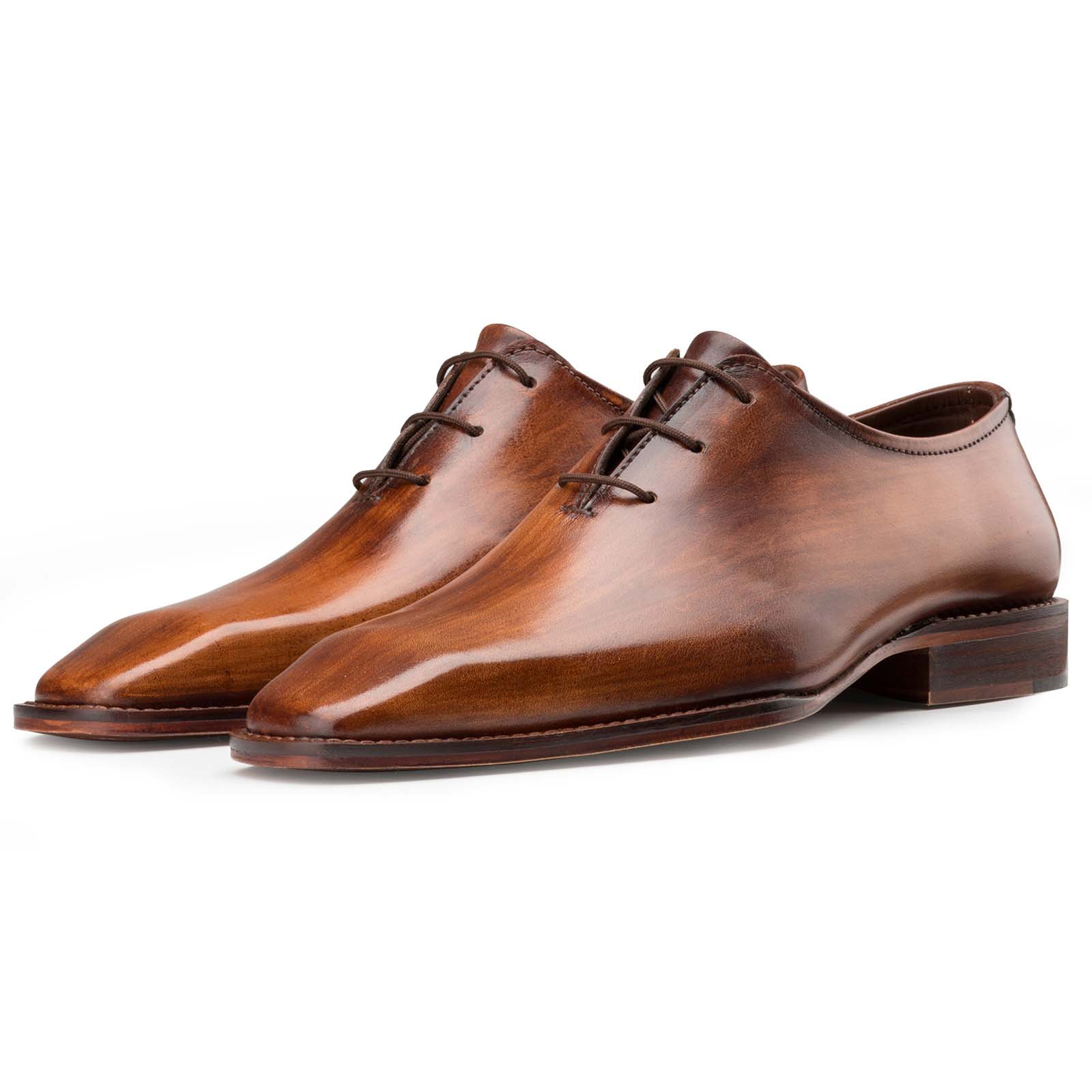 Wooden-Finish Wholecut Oxfords