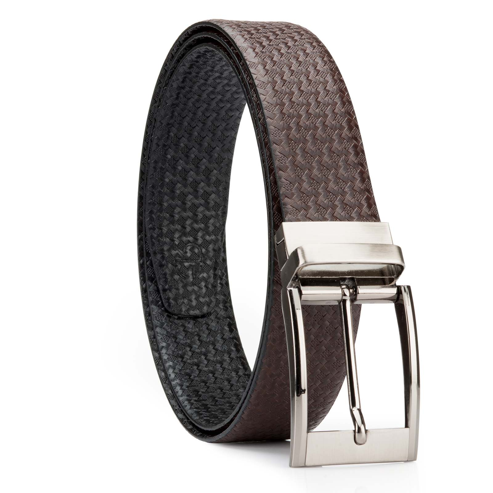 Black and Brown Nifty Design Leather Men's Formal Belts