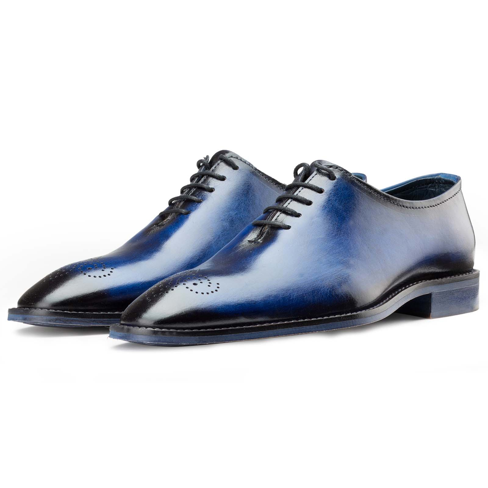 Blue Medallion Wholecut Oxfords