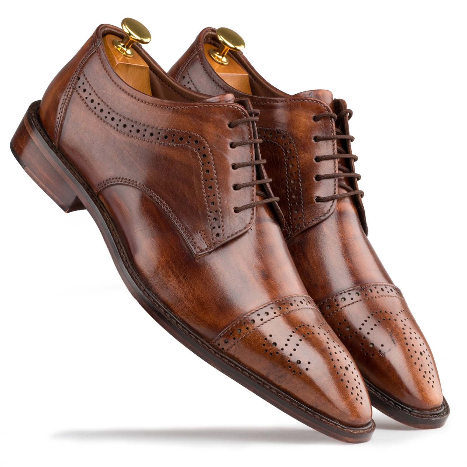 Brown Designer Derby Shoes