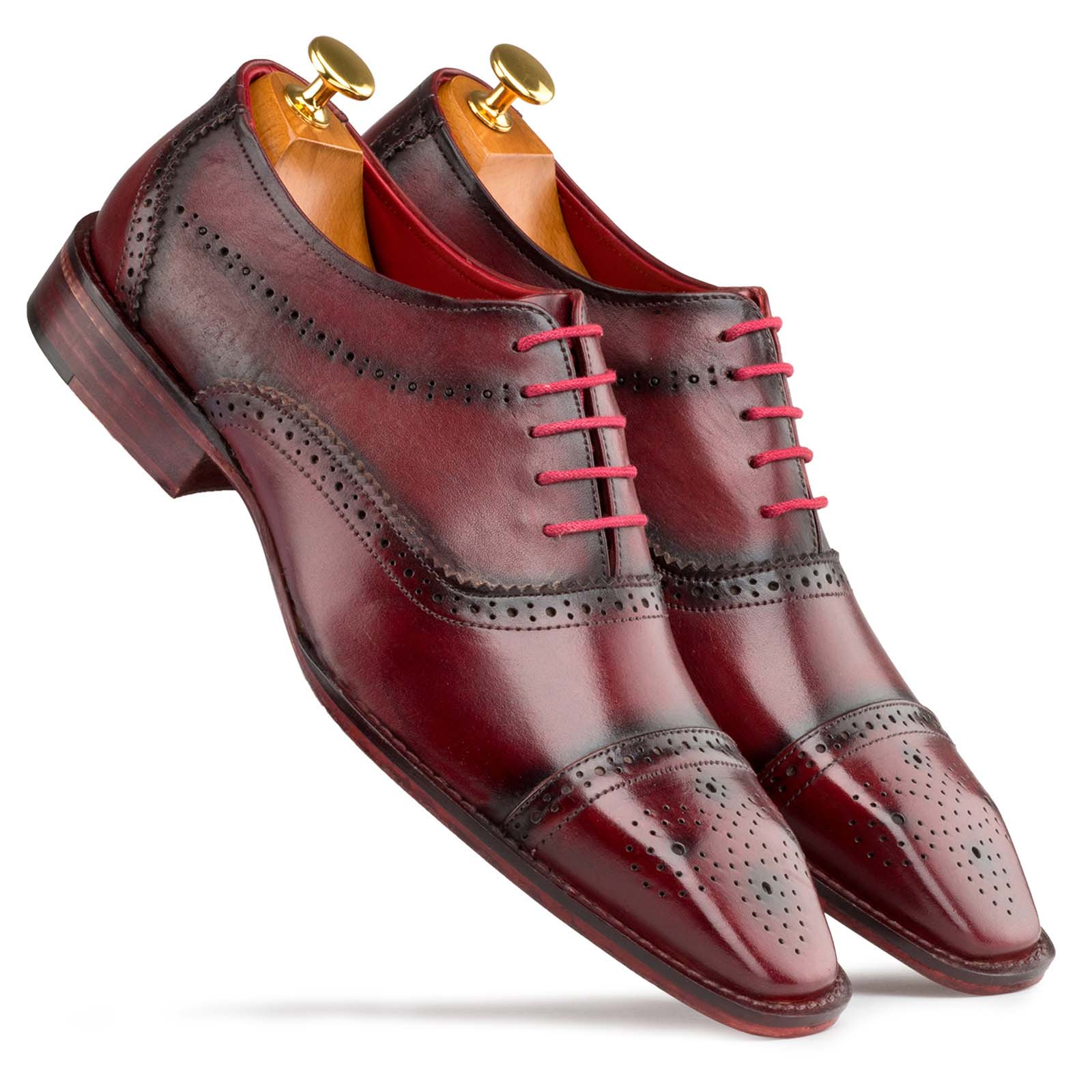 Wine Medallion Oxfords