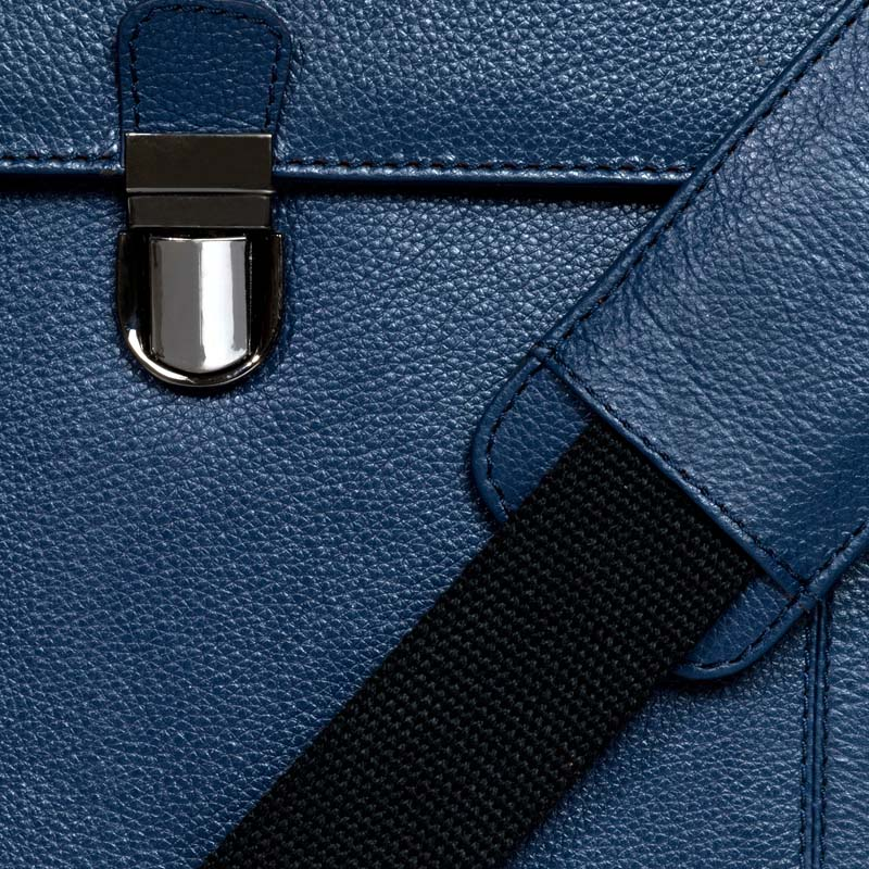 Blue Leather Portfolio Bag