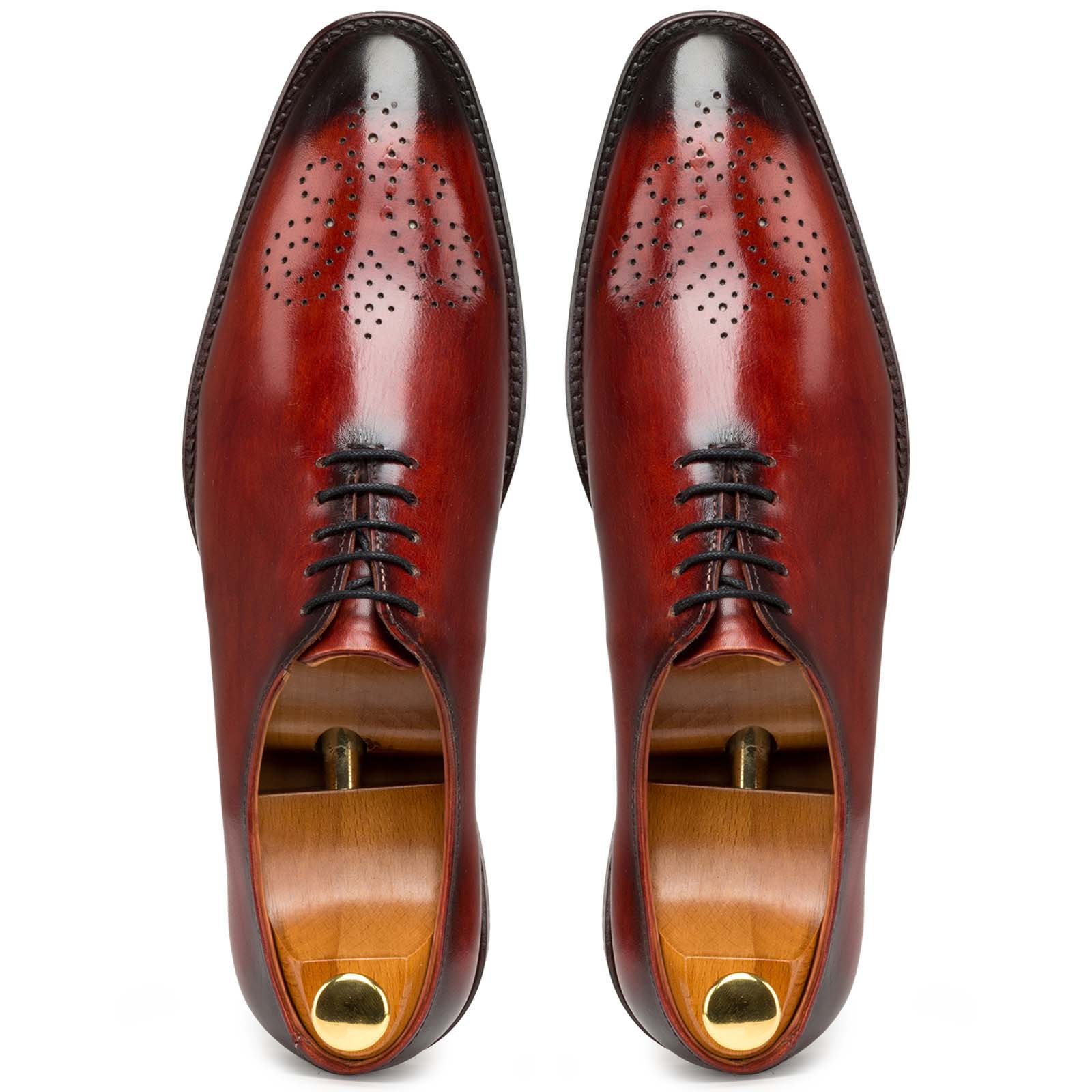Red Medallion Wholecut Oxford